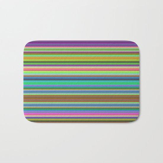Summer Stripes – Clock 2 - Living Hell Bath Mat