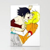 sasuke Stationery Cards featuring Sasuke y Liara by rosalia