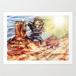 Spirit - Platonic 2/3 Triptych Art Print