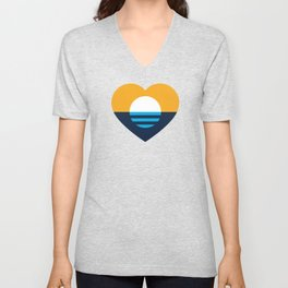 Heart of MKE - People's Flag of Milwaukee Unisex V-Neck