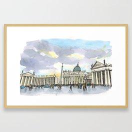 Piazza San Pietro Framed Art Print