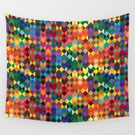 P1: Sunset Diamonds Wall Tapestry