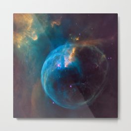 picture of star by Hubble : bubble nebula Metal Print