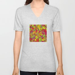 Abstract animals Unisex V-Neck