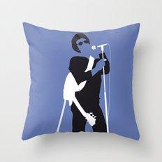 No068 MY LOU REED Minimal Music poster Throw Pillow