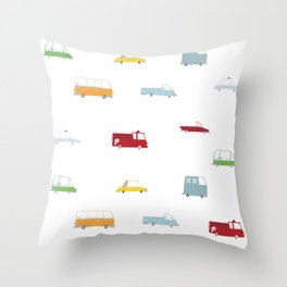 Cars Print pattern Throw Pillow
