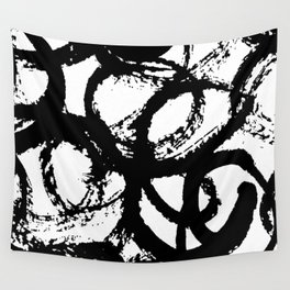 Dance Black and White Wall Tapestry