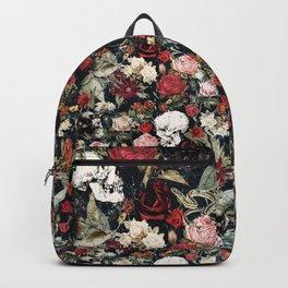 Vintage Floral With Skulls Backpack