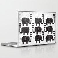 elephants Laptop & iPad Skins featuring ELEPHANTS by Matthew Taylor Wilson