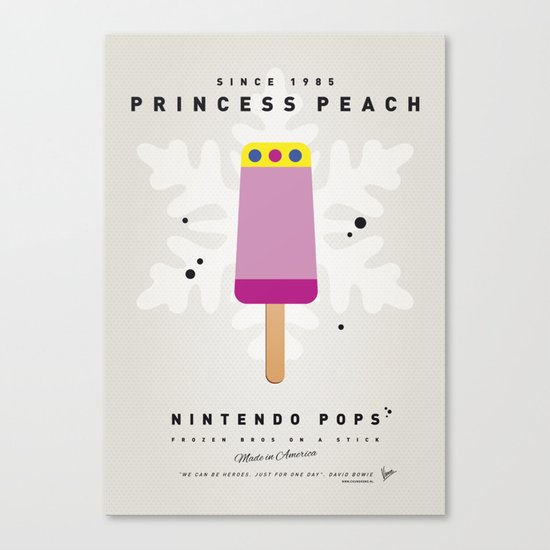 My NINTENDO ICE POP - Princess Peach Canvas Print