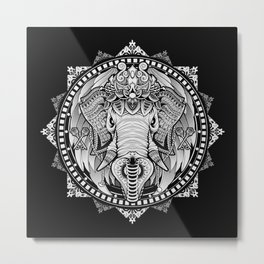 Elephant Medallion Metal Print