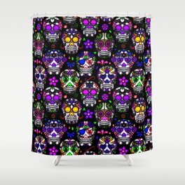 Candy Skulls Shower Curtain