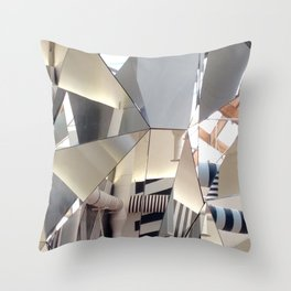 Venice, The Mirrored Cafe at The Biennale Throw Pillow