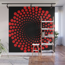 red spiral Wall Mural