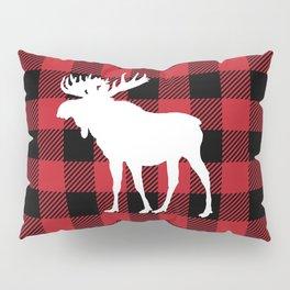 Red Buffalo Plaid Moose Pillow Sham