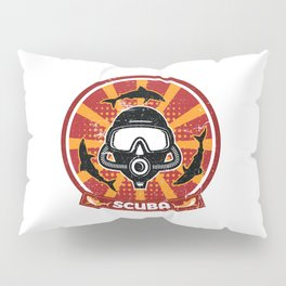 Scuba Diving Propaganda Pillow Sham
