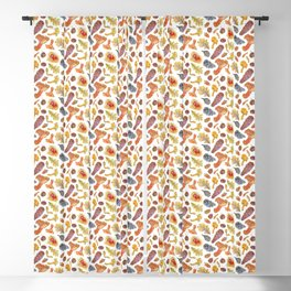 Forest Treasures - White Blackout Curtain