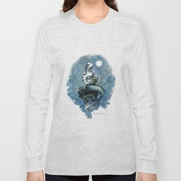 Bookish Mermaid W  Long Sleeve T-shirt