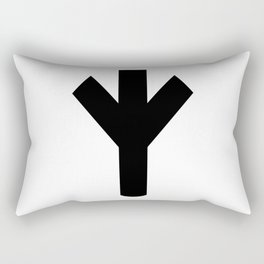 Life Rune Algiz Elhaz Rectangular Pillow