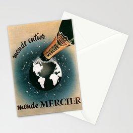 Vintage 1950 Monde Mercier Champagne Advertisement Stationery Cards