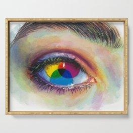 Eye of an artist Serving Tray
