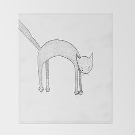 Leaping Cat Throw Blanket