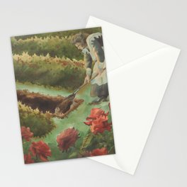 Her Garden Resembled A Burial Ground Stationery Cards