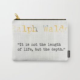 Ralph Waldo Emerson quote Carry-All Pouch