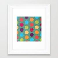 polka dot Framed Art Prints featuring Polka Dot by Atomic Starburst