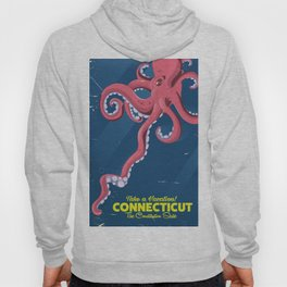 Connecticut USA Octopus vintage travel poster Hoody
