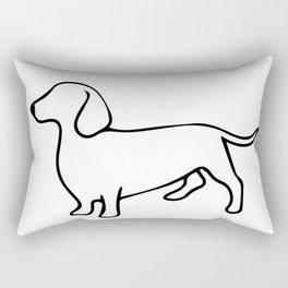 Dachshund Line Art Drawing Rectangular Pillow