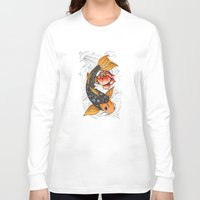 koi Long Sleeve T-shirts featuring Koi by Tuky Waingan
