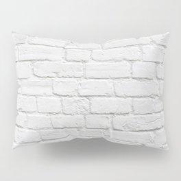 White Brick Wall Pillow Sham