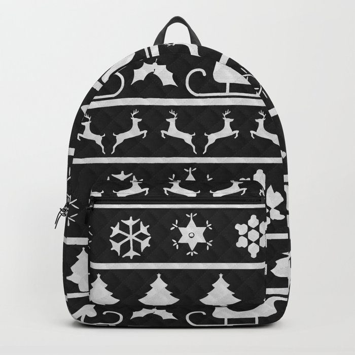 Black White Ugly Sweater Nordic Knit Backpack By Podartist Society6