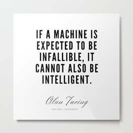 24   | Alan Turing Quotes  | 190716 | Metal Print