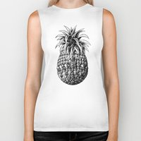 ornate Biker Tanks featuring Ornate Pineapple by BIOWORKZ