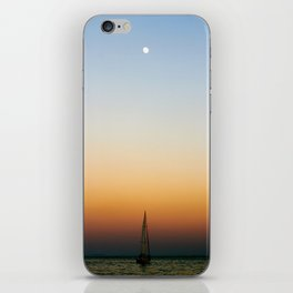 Sailboat Under the Moon iPhone Skin