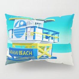 Miami Beach Hut Pillow Sham
