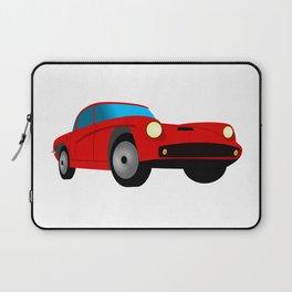Red Sports Car Illustration Laptop Sleeve