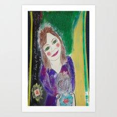 Self Love Portrait for Inner Peace  Art Print