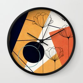 Vibrant Flower Design 3 Wall Clock