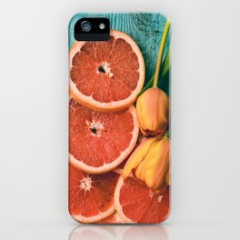 Grapefruit and Tulips iPhone Case