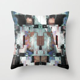 Curb rink overused sections. Throw Pillow