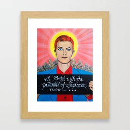 Saint Bowie Framed Art Print