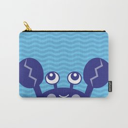 Blue Crabby Crab Carry-All Pouch