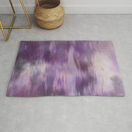 Purple Fusion Illustration Digital Camo Watercolor Blend Fluid Art Rug