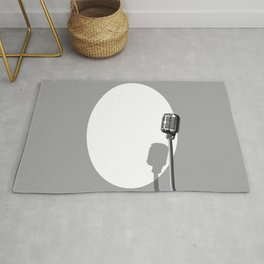 Musical Event Microphone Poster Rug