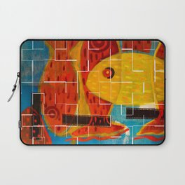 Crossing reds, crackle Laptop Sleeve
