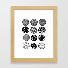 Simple Circle Patterns Collection Framed Art Print