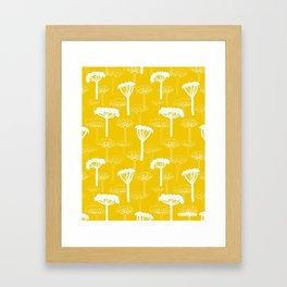 Yellow medow - Fabric/wallpaper pattern Framed Art Print